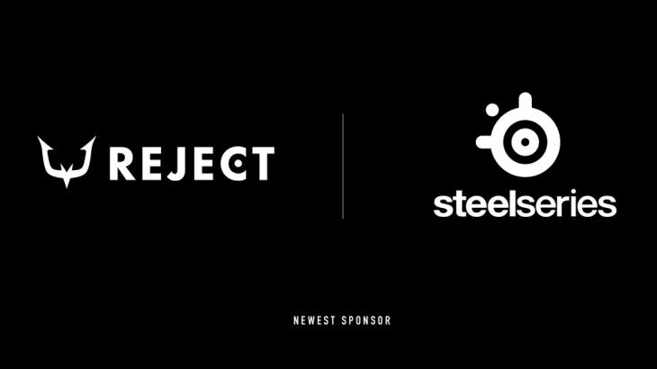 プロeスポーツチーム「REJECT」、ゲーミングデバイスブランド「SteelSeries」とスポンサー契約を締結